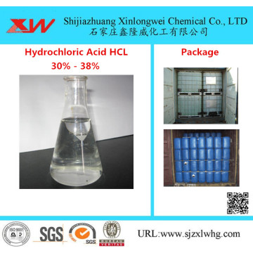 Hydrochloric Acid 31%-37% Industrial & Food Grade