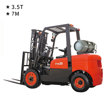 3.5 T Gasoline&LPG Forklift 7m Lifting Height