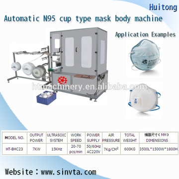 Ultrasonic N95 mask making machine