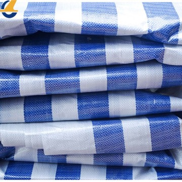 Color Blue Strips Poly Tarp