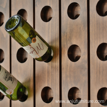 Wine rack Wooden Over the wall hanging shelf with holes