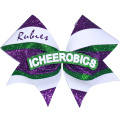 Custom Silver Cheer Bows