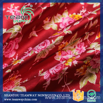 Printed Satin Fabric Top Quality 100% Polyester