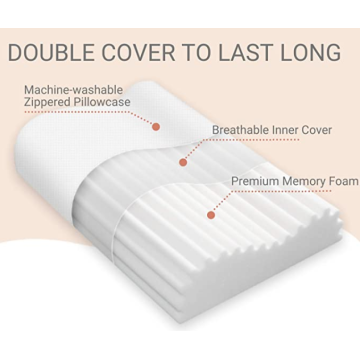 Contour Memory Foam Pillow with Groves Standard