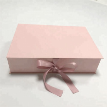Pink Paper Folding Hair Packaging Gift Box