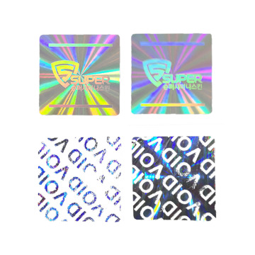 Color QR code hologram laser label