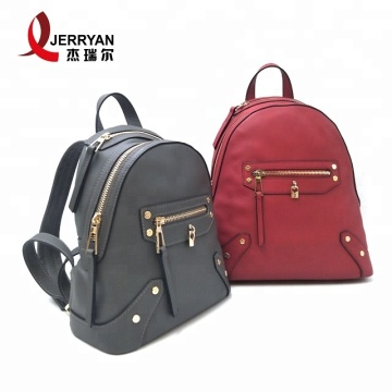 Grey Leather Crossbody Tote Backpacks for Women