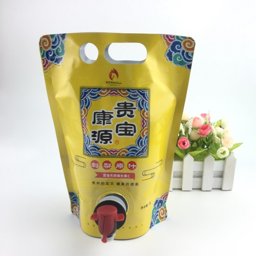Aluminum foil 1L stand-bag for pear juice packaging-bag