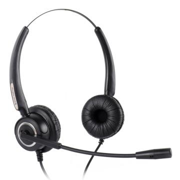 Free Shipping Volume and Mute Binaural office RJ9 plug headset Noise canceling headset Telephone headset call center headphone