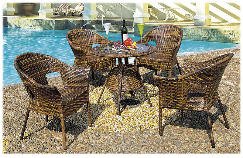Garden wicker dining set