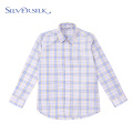 Custom Sutumn Big Check Casual Boys Plaid Shirt