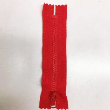 Factory Provided red plastic zippers for coat