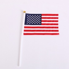 Custom 100% Polyester USA Hand Flag