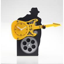 Guitar Man Gear Desk Clock
