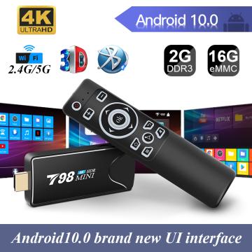Mini TV Stick 4K RK3318 H.265 Media Player 3D Video 2.4G 5G WIFI Bluetooth Smart TVBox Set top TV box android 10 YouTube Netfli