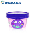frozen ice cream yogurt plastic cup with lid spoon