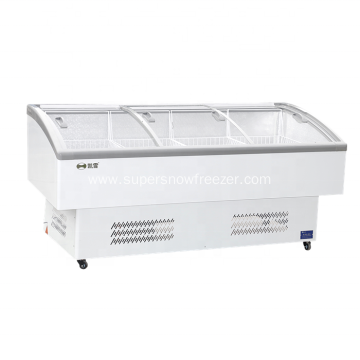 glass door freezer for supermarket and grocery store