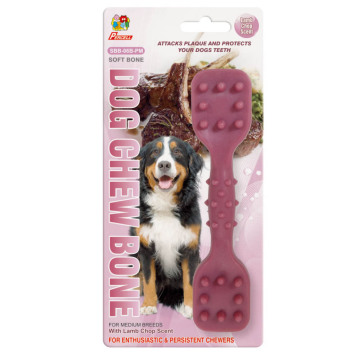 "Percell 6"" Dura Chew Toy Dumbbell Lamb Scent"