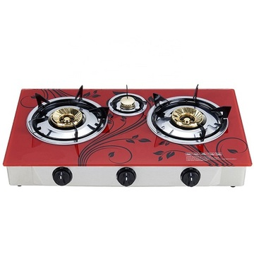 Black Gas Hobs Table Stove