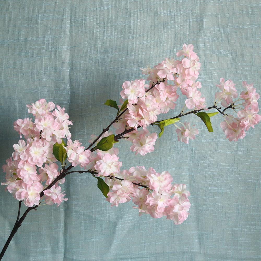 Artificial Cherry Blossoms High Quality Artificial flower plant bonsai wedding decoration INS wind plant wall декор для спальни