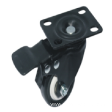 2 Inch Plate Swivel PU Material With Brake Small Caster