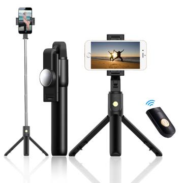 Wireless Selfie Stick Phone Tripod Extendable Monopod Bluetooth Remote Shutter for iPhone 11 X Samsung S20 Huawei Smartphone
