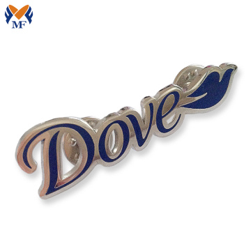 Lapel pin badge with letter logo design