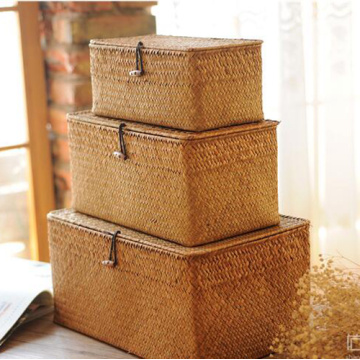 Rectangular Mat Grass Weaving Storage Basket