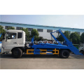 Luxurious DONGFENG cummins 180hp swing arm garbage truck