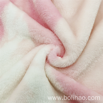 100% Polyester Printed Flannel Fleece Fabric