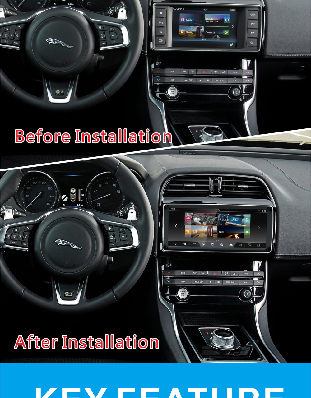 Android Jaguar navigation 1618 after installation