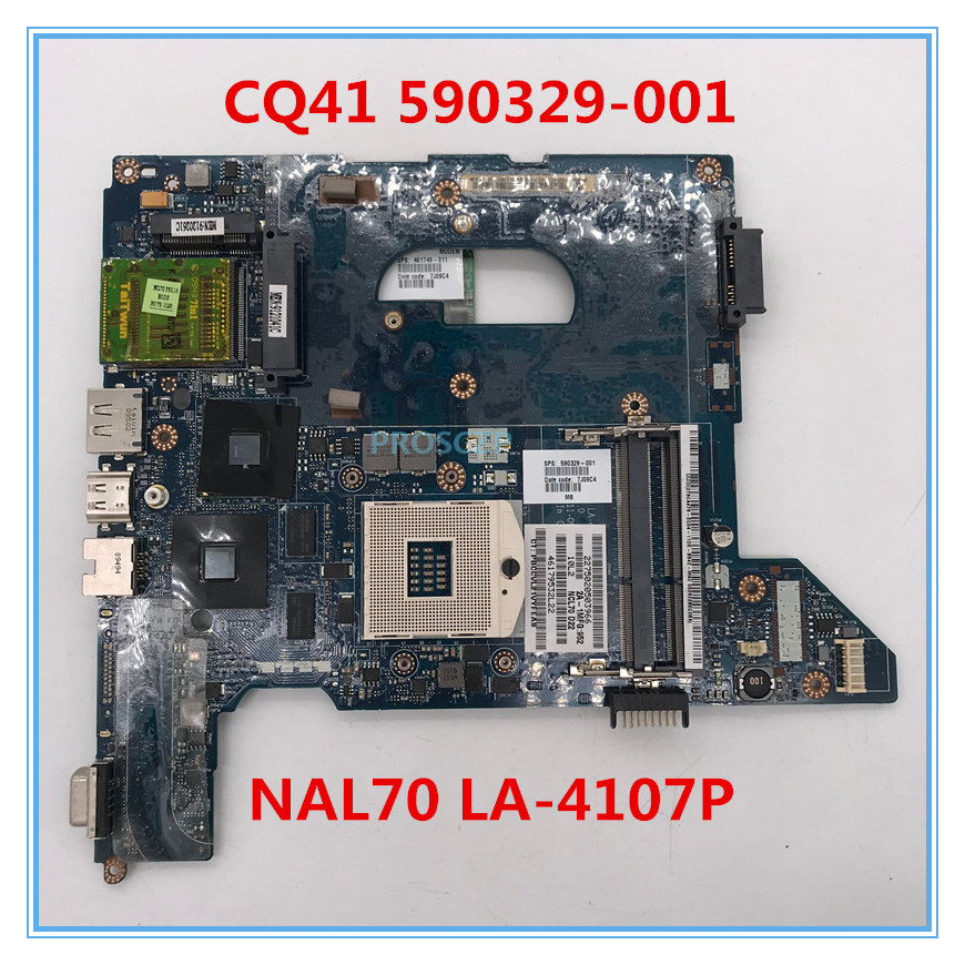 High quality For HP CQ41 Laptop motherboard 590329-001 590329-501 590329-601 NAL70 LA-4107P 100% working well