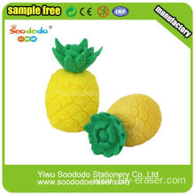 Lifelike Promotional Pineapple Shaped Fruit Erasers
