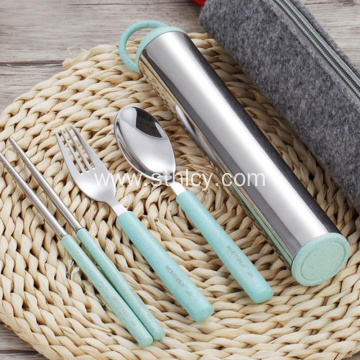 304 Stainless Steel Tableware Chopsticks Spoon Fork