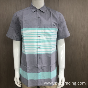 New style male 100% cotton short sleeve shirt