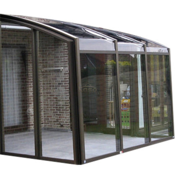 Aluminum Kit Retractable Sunroom Winter Patio Enclosure