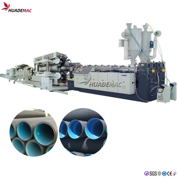Double wall corrugated pipe extrusion line PE