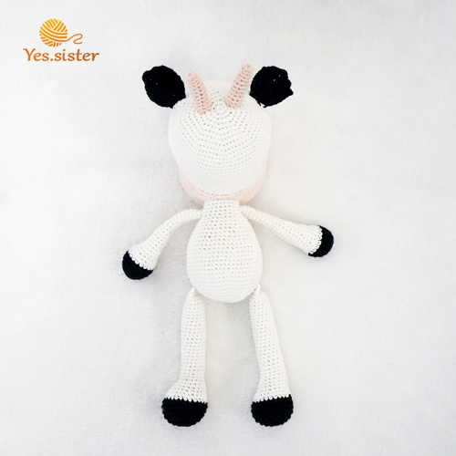 New Design Handmade Crochet Cow Doll Baby Toy
