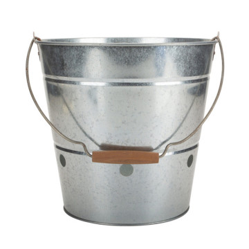 Galvanized Grease Bucket for BBQ