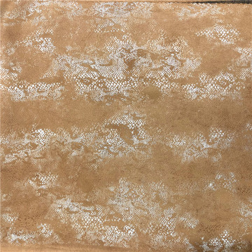 polyester spandex suede with foil