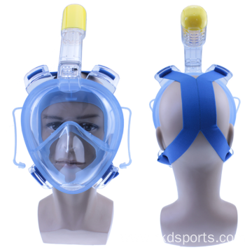 Wide Head Strap with Touch Adjustment Buckles Mask