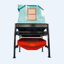 Counterflow Wood Pellet Cooler with Cyclone