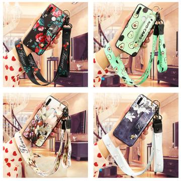 Wrist Strap Case For Huawei P30 P20 P10 P40 Honor 10i 8X 9X Mate 20 10 30 Lite Pro Y6 Y7 Y9 P Smart 2019 Z Neck Lanyard Capa Bag
