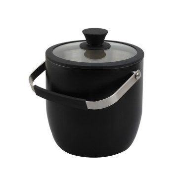 black painting double wall ice bucket