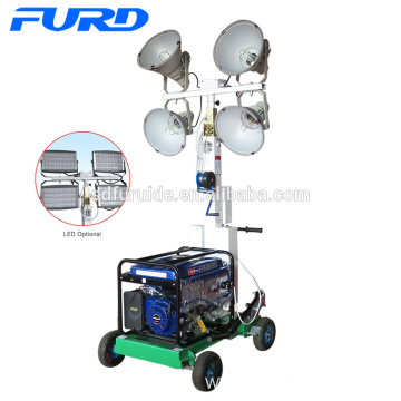 200w*4 Hand Push Mobile Led Light Tower (FZM-400B)