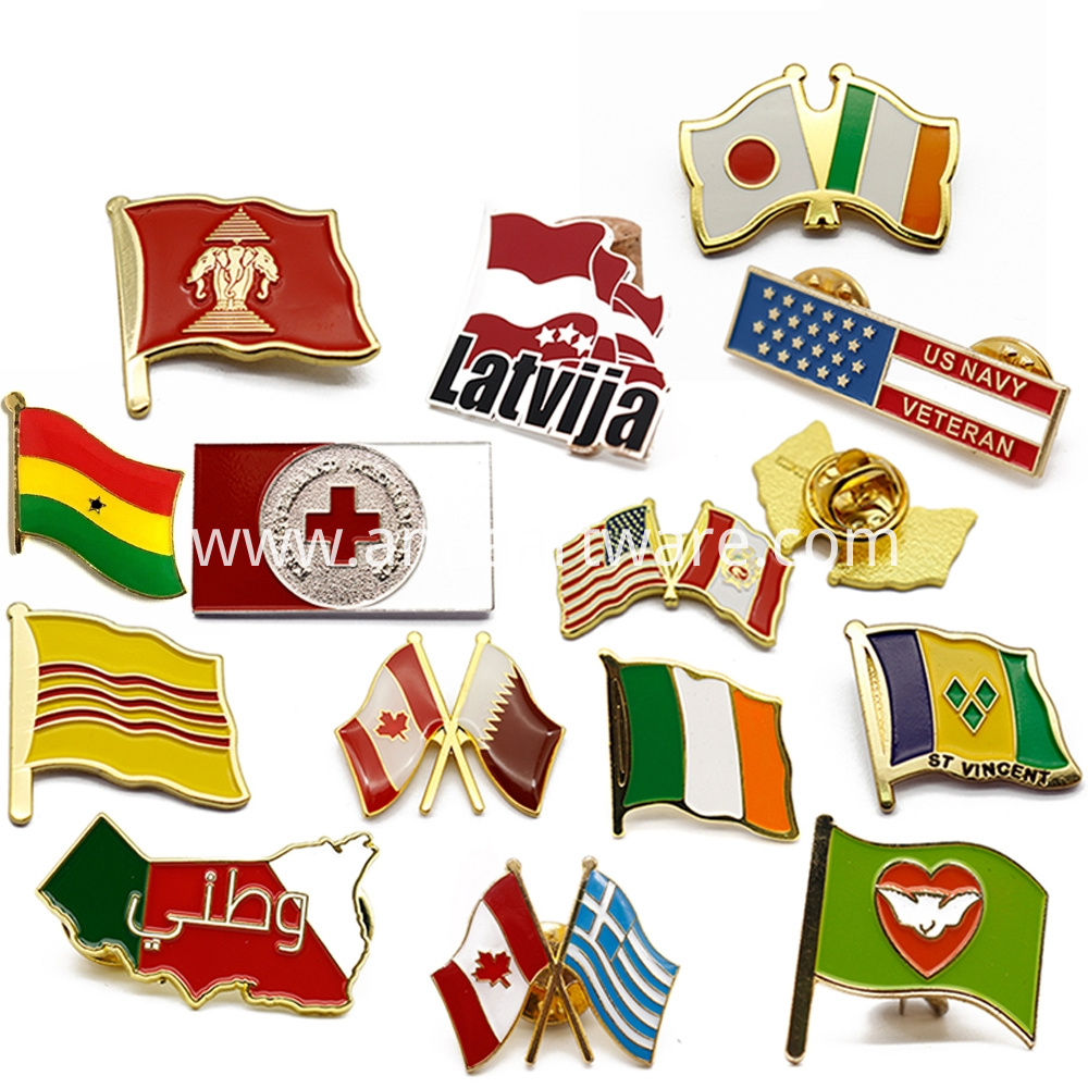 Lapel Pin Flag 6