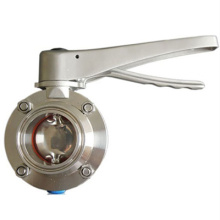 Butterfly Valve With Sanitary Stainless Steel Handle