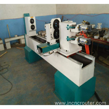CNC wood lathe with single spindle