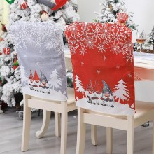 Christmas chair covers Santa Claus Hat Christmas Dinner Chair Back Covers Table Party Decor New Year Party Supplies 2021