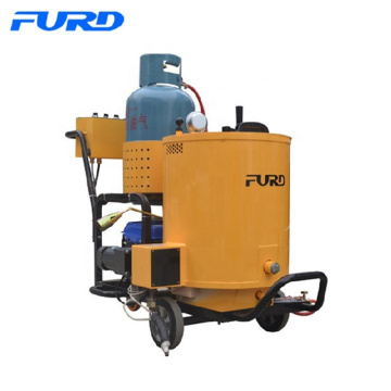 Portable crack sealing machine for asphalt pavement repair